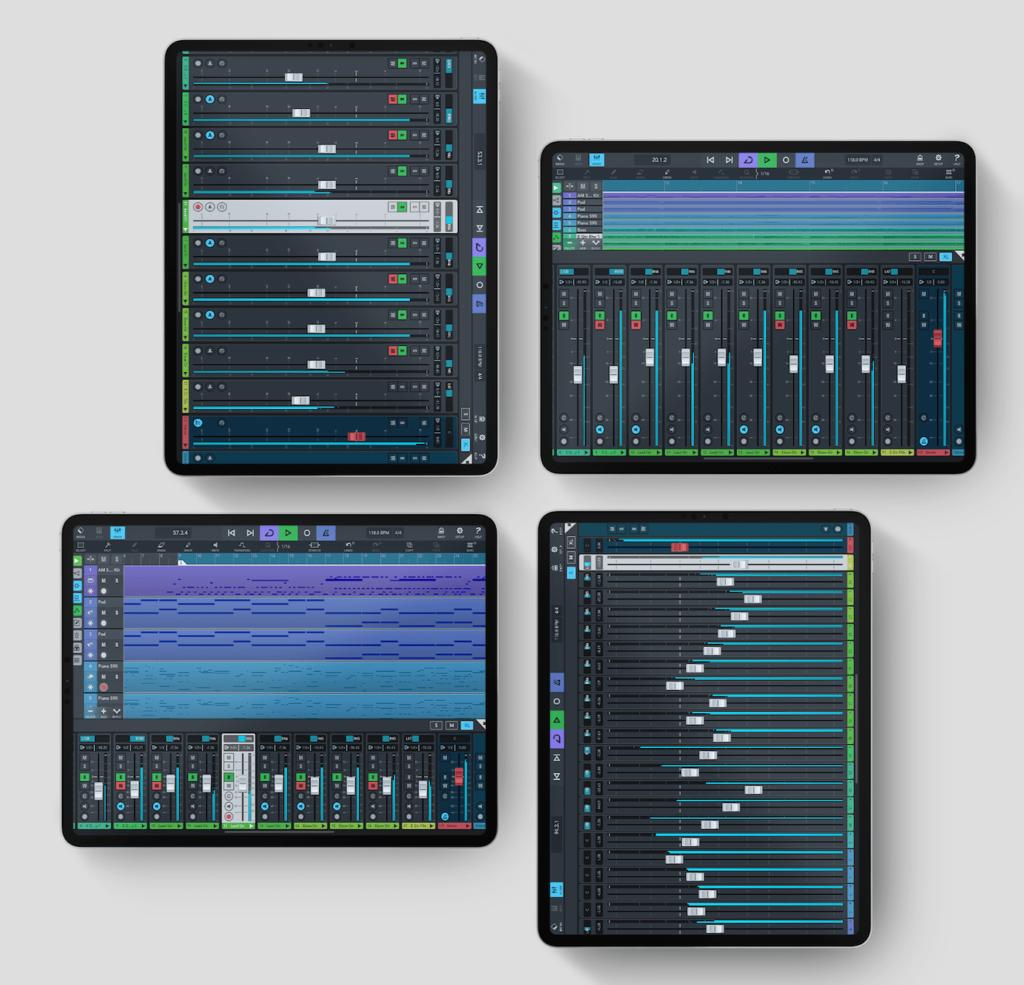 Cubasis 3 en iPad Pro - Mezclador pantalla completa