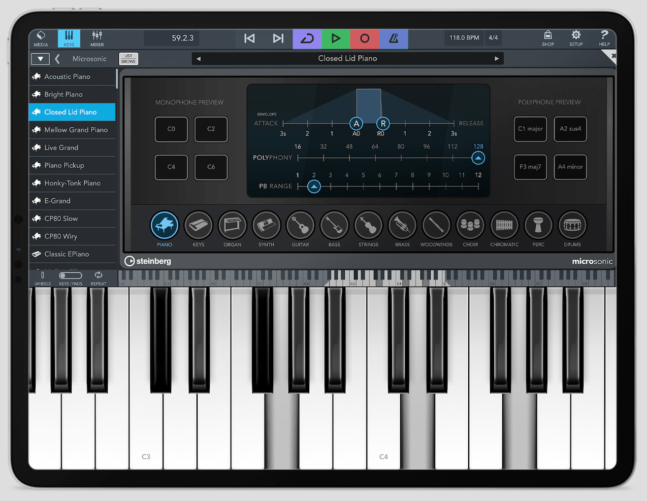 Cubasis 3 en iPad - MicroSonic