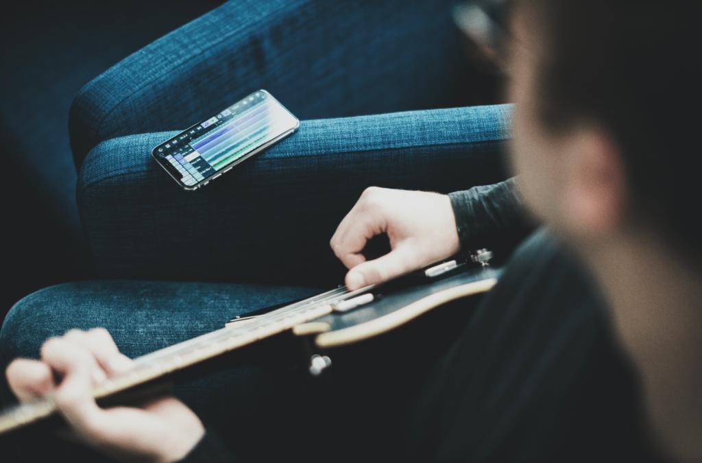 Grabando guitarra en Cubasis 3 para iphone
