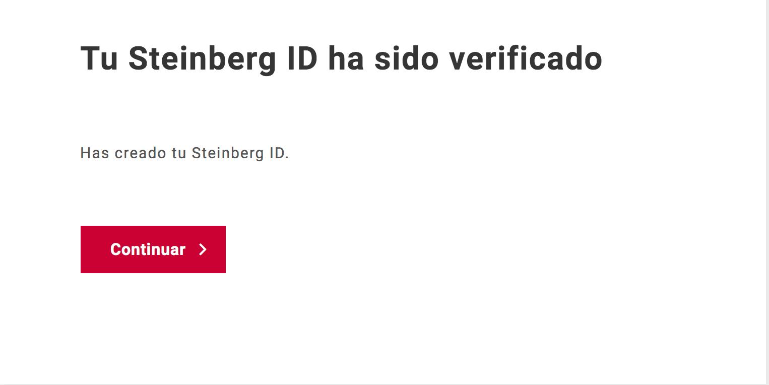Cuenta My Steinberg - Verificada